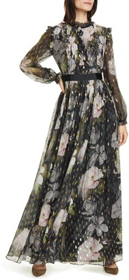 Ted Baker Hunnie Opal Long Sleeve Maxi Dress