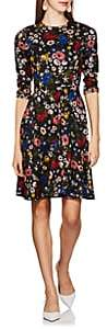 Erdem Women's Dione Floral-Print Ponte Dress - Black Multi