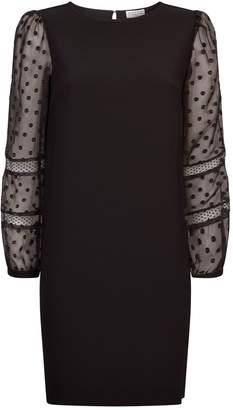 Claudie Pierlot Sheer Sleeve Dress