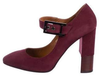 Aquatalia Suede Mary Jane Pumps