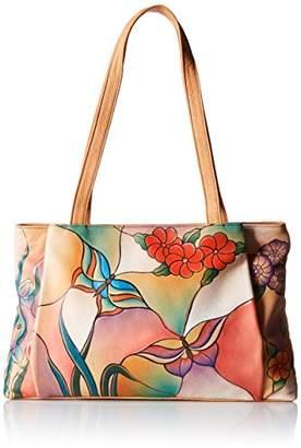 Anuschka Anna by Genuine Leather Large Shopper | Hand Painted Original Artwork |