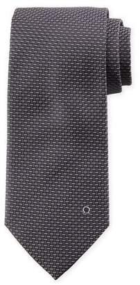 Salvatore Ferragamo Dash-Pattern Silk Tie