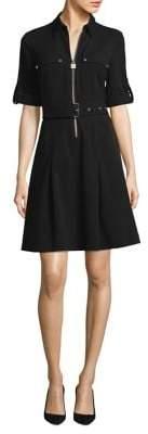 MICHAEL Michael Kors Belted Zip Shirt Dress