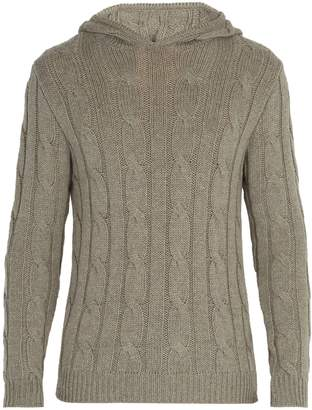 Ralph Lauren Purple Label Cashmere cable-knit hooded sweater