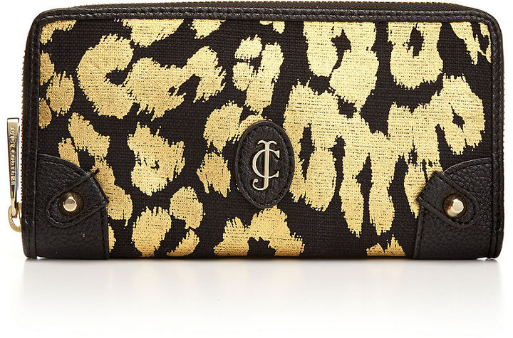 Juicy Couture Beverly Leopard Continential Zip Wallet