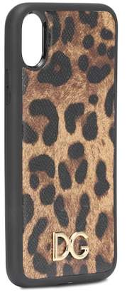Dolce & Gabbana Printed leather iPhone X case