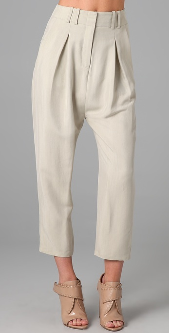 Alexander Wang Matte Twill Baggy Pants