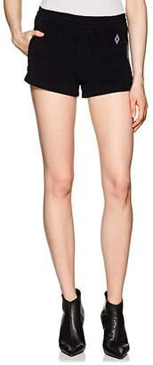 Marcelo Burlon County of Milan Women's Logo Cotton French Terry Shorts