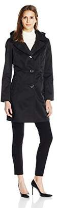 "Anne Klein Women's 34"" Mid Length a-Line Single Breasted Raincoat"