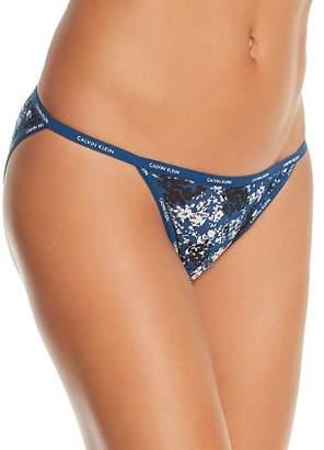 Calvin Klein Sheer Marquisette String Bikini