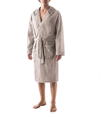 RESIDENCE Residence Microstripe Hooded Robe