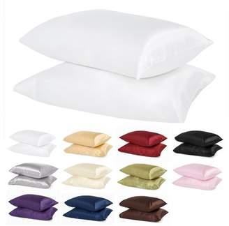 Verno Luxury Silky Satin Pillowcases (package of 1 pair)