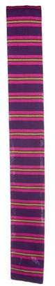 Etro Striped Knit Tie