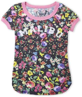 Dirtee Hollywood Girls 7-16) Malibu Floral Tee
