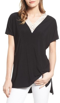 Women's Chaus Lace Trim Tee $59 thestylecure.com