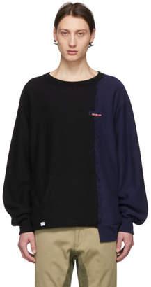 Facetasm Black Colorblock Sweatshirt