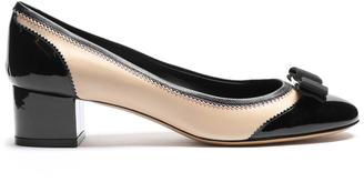 SALVATORE FERRAGAMO Eva leather pump $479 thestylecure.com