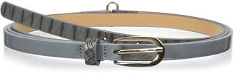 elise m. Women's Erica Patent Leather Double Wrap Belt