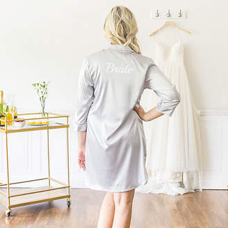 Cathy's Concepts CATHYS CONCEPTS Bride Satin Night Shirt