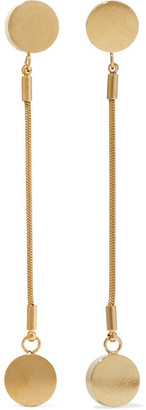 Isabel Marant - Gold-plated Earrings - one size $195 thestylecure.com