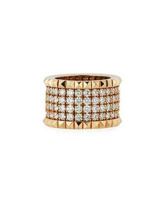 Roberto Coin 18k Rose Gold Diamond & Stud Ring, Size 6.5