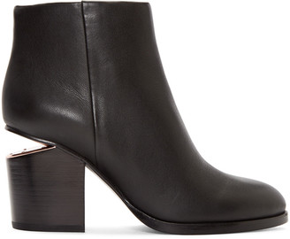 Alexander Wang Black Gabi Ankle Boots $675 thestylecure.com