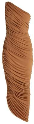 Norma Kamali Diana One Shoulder Jersey Dress - Womens - Tan