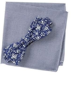 Original Penguin Deloney Floral Bow Tie & Pocket Square Box Set