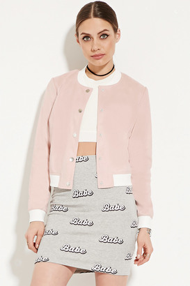 FOREVER 21+ Faux Suede Bomber Jacket $37.90 thestylecure.com