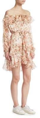 Zimmermann Whitewave Off-The-Shoulder Dress