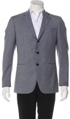 Caruso Wool Check Blazer