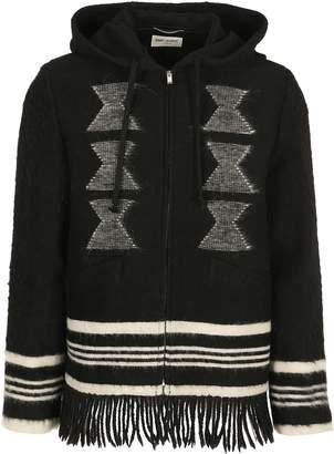 Saint Laurent Hoodie Fringe Jacket