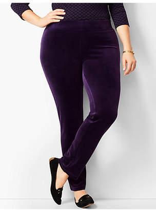 Talbots Luxe Velour Straight-Leg Pants