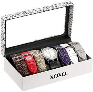 XOXO Women's XO9042 Seven Color Snake-Embossed Interchangeable Strap Set Watch