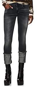 R 13 Women's Kate Mid-Rise Cuffed Skinny Jeans - Black