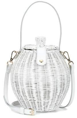 Tautou wicker basket bag
