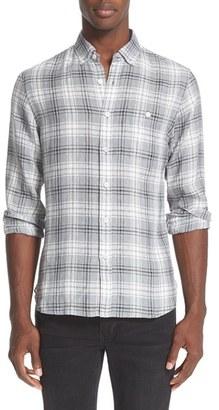 Men's Todd Snyder Plaid Linen Shirt $168 thestylecure.com