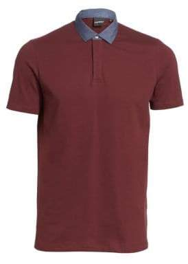 Emporio Armani Chambray Collar Polo Shirt