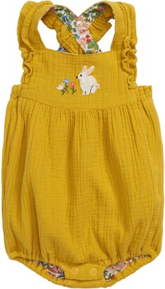 Boden Mini Frilly Embroidered Romper