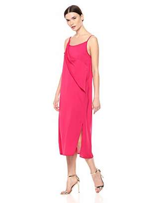 Serene Bohemian Women's Strap Dress with Twisted Flounce Detail on The Front (