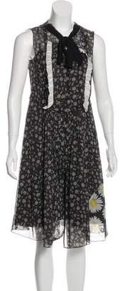 Marc Jacobs Floral Print Knee-Length Dress w/ Tags