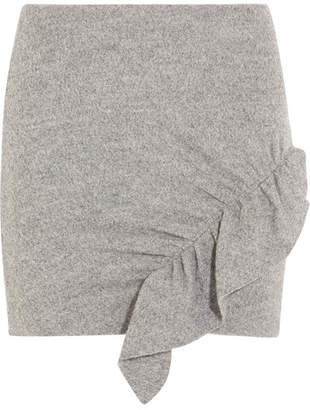 IRO Toman Ruffled Wool Mini Skirt - Light gray