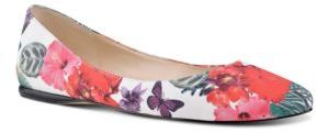 Nine West Speakup Printed Canvas Flats $69 thestylecure.com