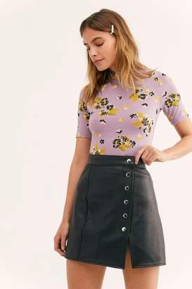 Understated Leather Mini Skirt