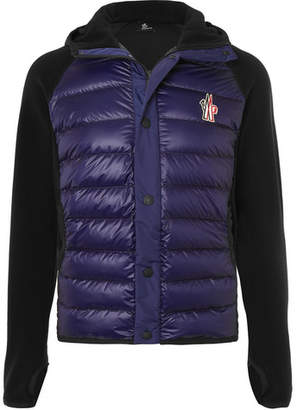 Moncler Shell-Panelled Fleece Hooded Ski Jacket - Men - Navy