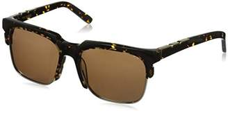 DAY Birger et Mikkelsen Pared Eyewear and Night Stormy Tortoise with Gold Rim Wire Square Sunglasses