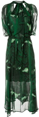 Petar Petrov Delway sheer snake print dress