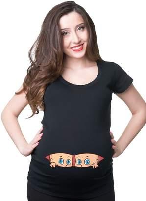 Silk Road Tees Pregnancy T-Shirt Twins Peeking Maternity Top