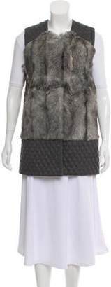 Annabelle Fur-Accented Wool Vest