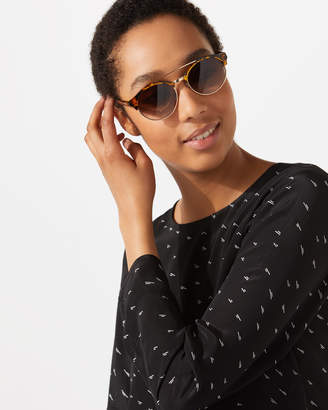 Jigsaw Hana Metal Round Frame Sunglasses